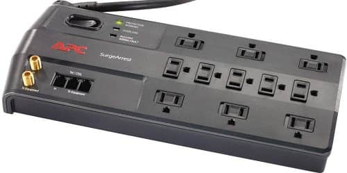 APC 11-Outlet Surge Protector 3020 Joules with Telephone