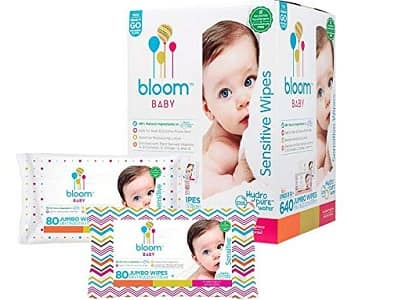 Bloom Baby Jumbo Sensitive wipes