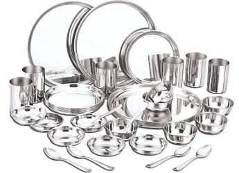 Panchal world Stainless Steel Dinnerware Set