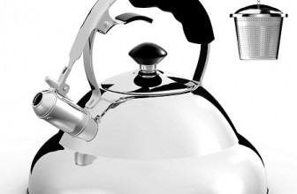 Extra Sturdy Surgical Stainless Steel Whistling Tea Kettle for Stovetop with